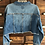 Thumbnail: XL Custom Cropped Denim Jacket