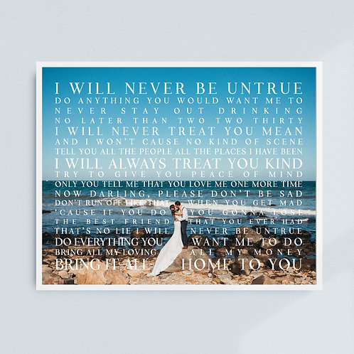 Wedding Lyric Print (Color)