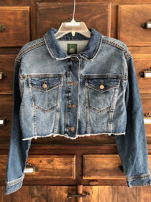 Small Custom Cropped Denim Jacket