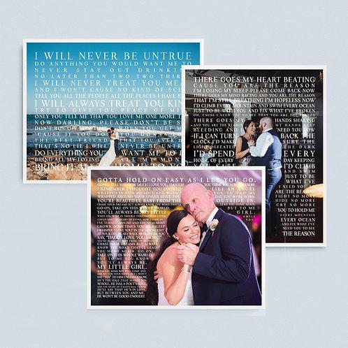 3 Lyric Print Promotion!