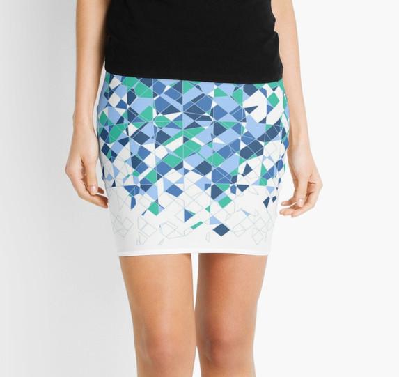 Broken Ocean - Mini Skirt