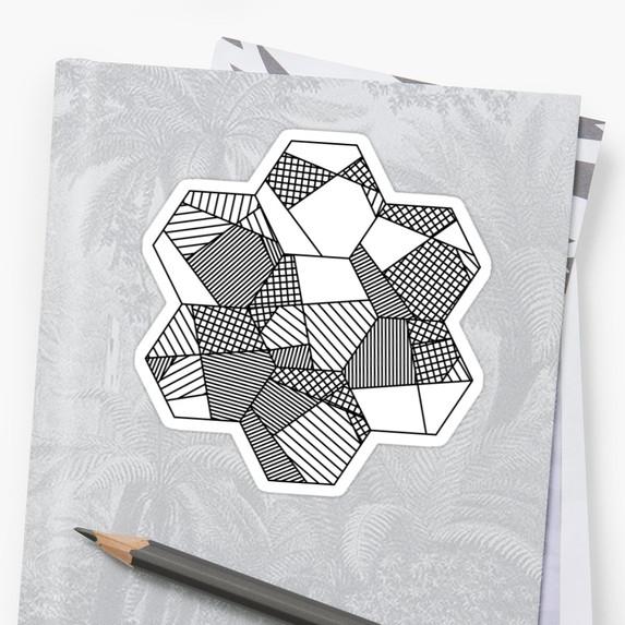 Monotone Patchwork - Stickers