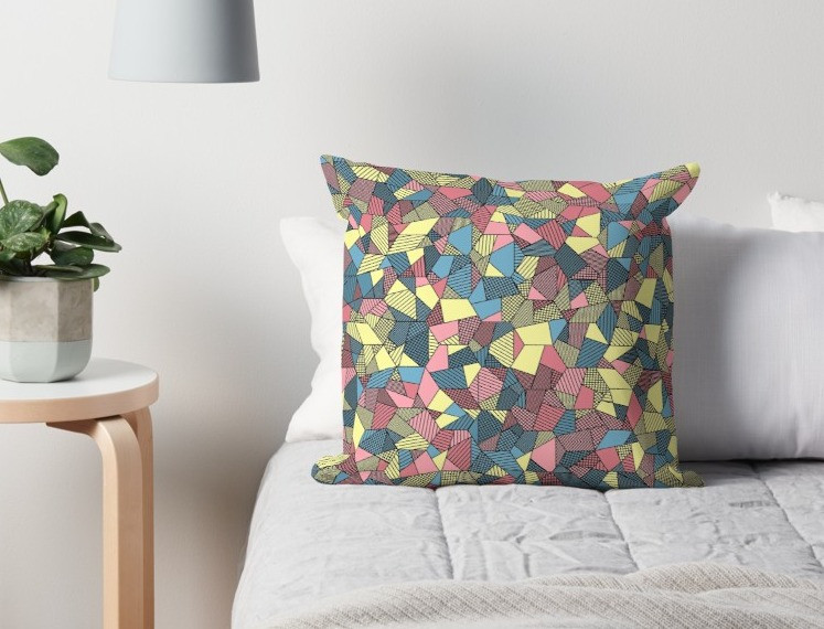 Pastel Patchwork - Throw Pillow