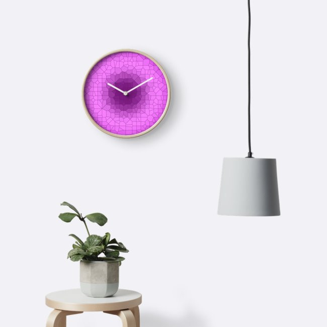 Purple Haze - Wall Clock