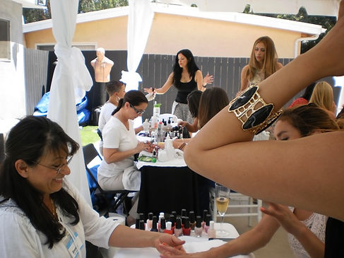 Nail services at our Massage Parties
