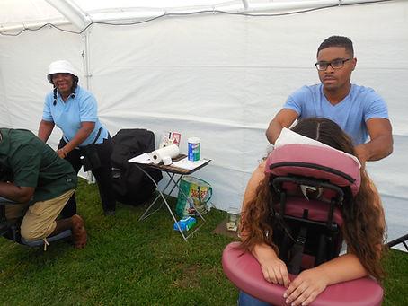 Chair massage on location