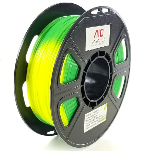 PLA Green-to-Yellow color-changing by Temperature