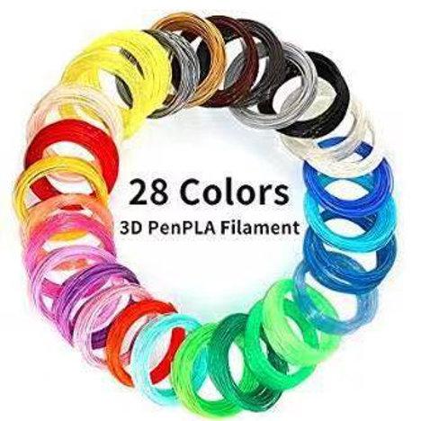 3D Printing Pen Filament (28 colors)