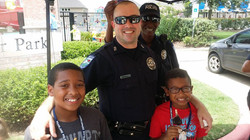 Ethan and Evan with Pearland PD