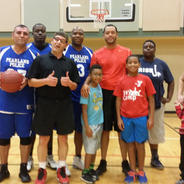 Pearland PD Basketball scrimmage