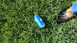 Empty Beer can litter