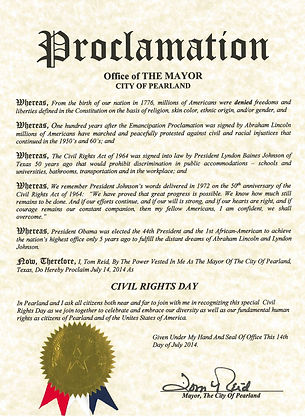 Civil Rights Proclamation 2014