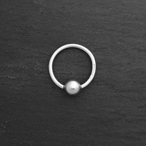 Platinum Bead Closed ring.