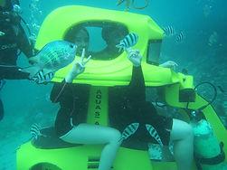 Underwater Scooter Bali. Water sports bali