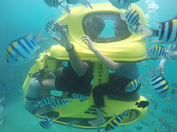 Underwater scooters water sports Bali
