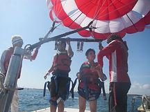 Parasailing adventure in Bali