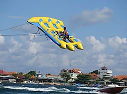 Flying Fish. Water sports in Bali
