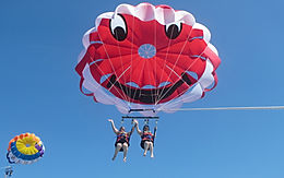 Bali Water sports. Parasailing Adventure