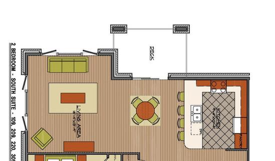 South suite floor plan