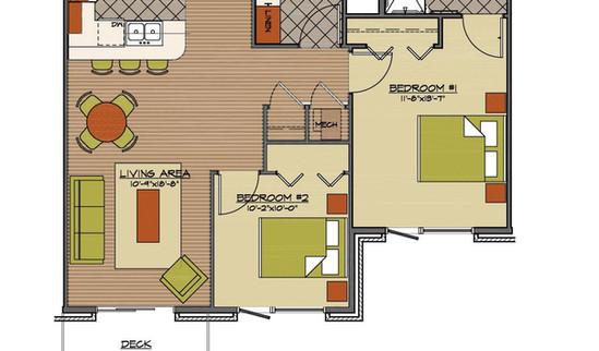 Floor plan 2 bed standard
