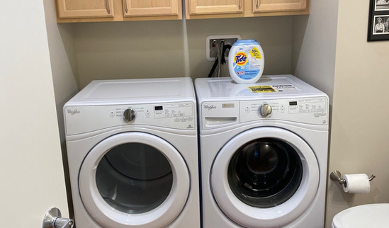 guest bath washer and dryer