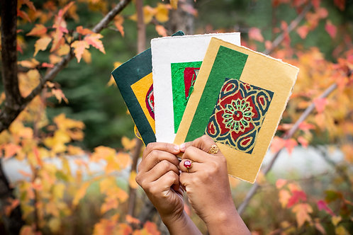 Assorted Handmade Cards - Pack of Three