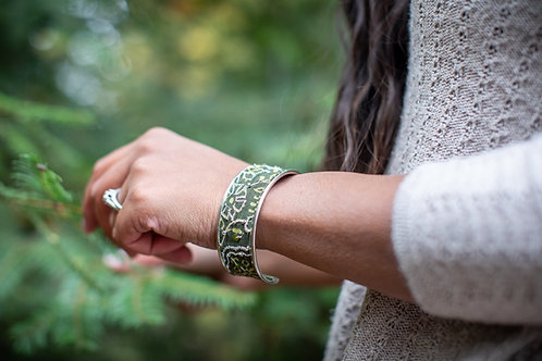 Winter Green Cuff Bracelet
