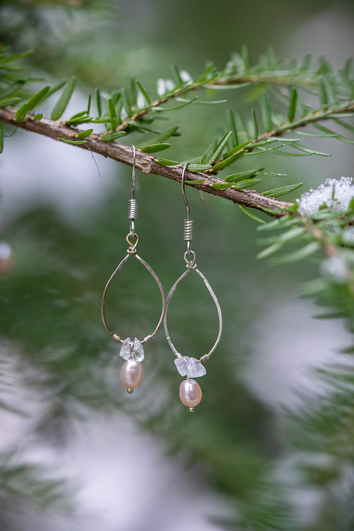 Frosted Pearl Earrings