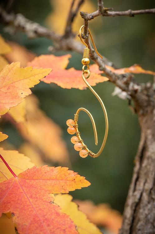 Autumn Henna Earrings