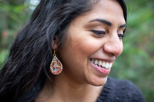 Pattern Aari Earrings