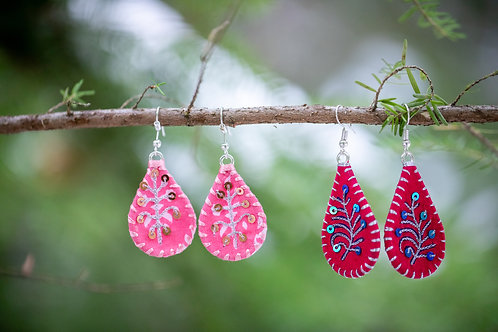 Teardrop Aari Earrings