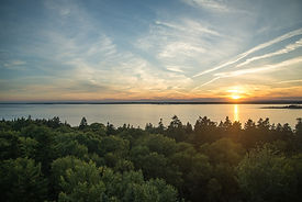 Explore Jewell Island Maine at Sunset