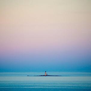 Twilight at Halfway Rock