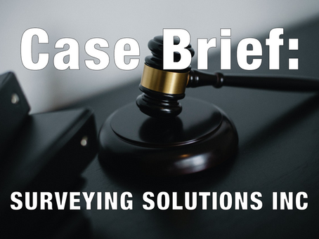 DBE Appeal Case Brief: SURVEYING SOLUTIONS INC.; Ref No.: 14-0071