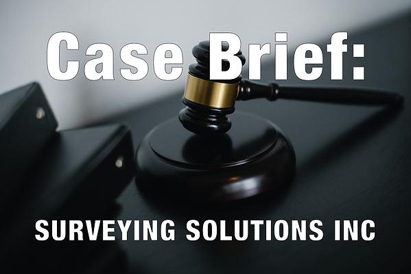 Case Brief: Survey Solutions Inc.