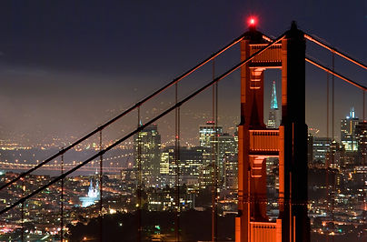 Golden Gate Bridge - North Tower Night S