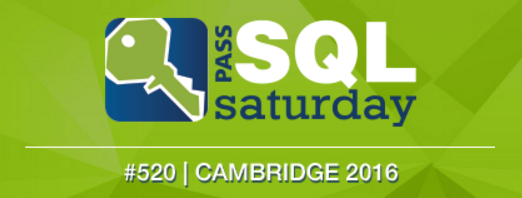 SQL Saturdays are awesome. The one in Cambridge is awesomer...