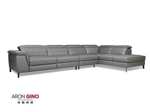 LV-1098/ 大L型皮沙發/原裝進口/單電動/厚牛皮