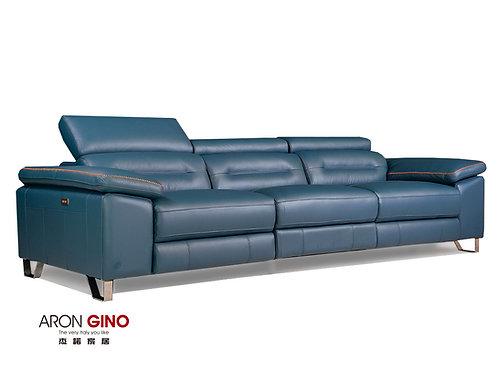 LV-1051/ 3人座皮沙發/原裝進口/單電動/厚牛皮