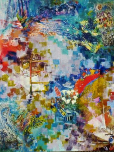 Chagall et moi, 80x100cm