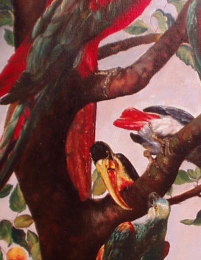 Les oiseaux, détail