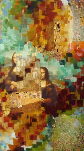 Mona Lisa revisitée..80x100cm