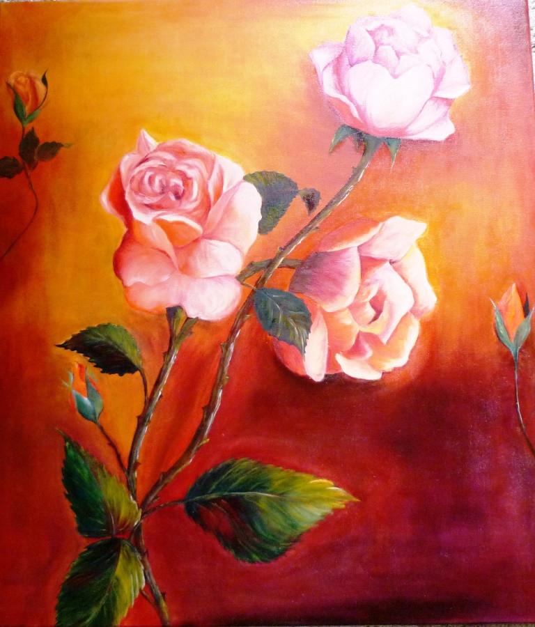 3 roses - huile