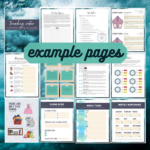 Treading Water Workbook & Templates (digital download)