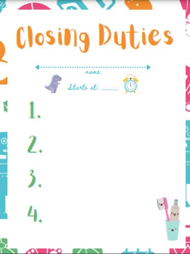 Kids care task template pack (digital download)