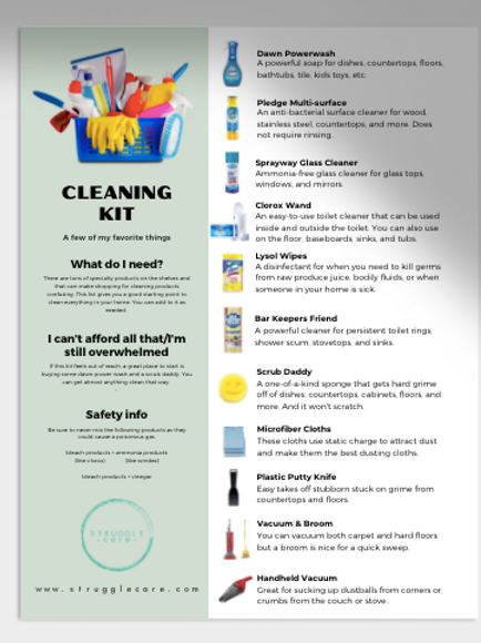 Basic Cleaning Kit Guide