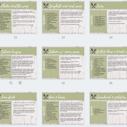Recipe cards (printable)