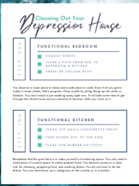 Depression House Step-by-step Cleaning Guide