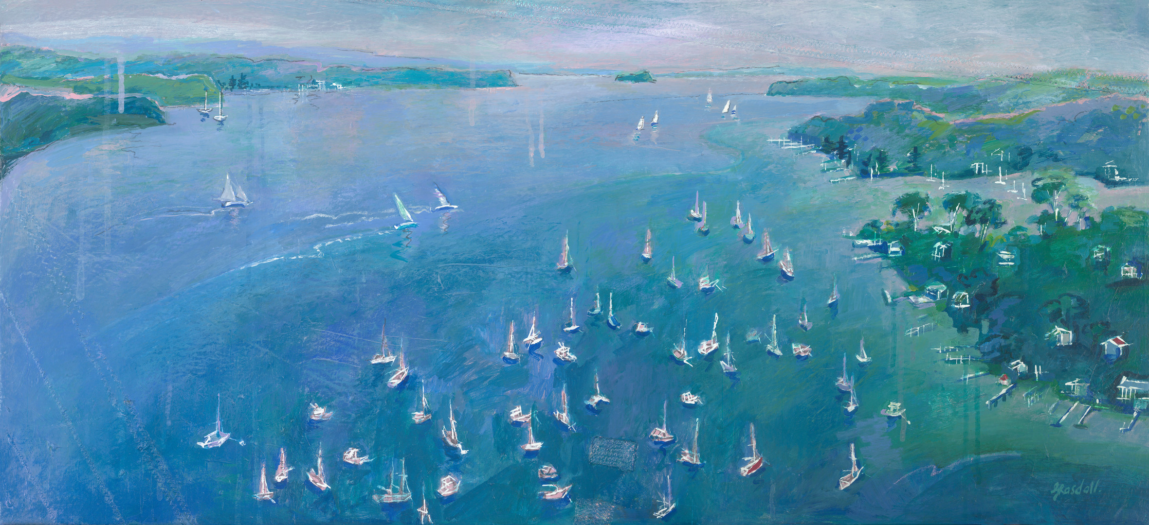 Pittwater, North Facing (110cm x 50cm)