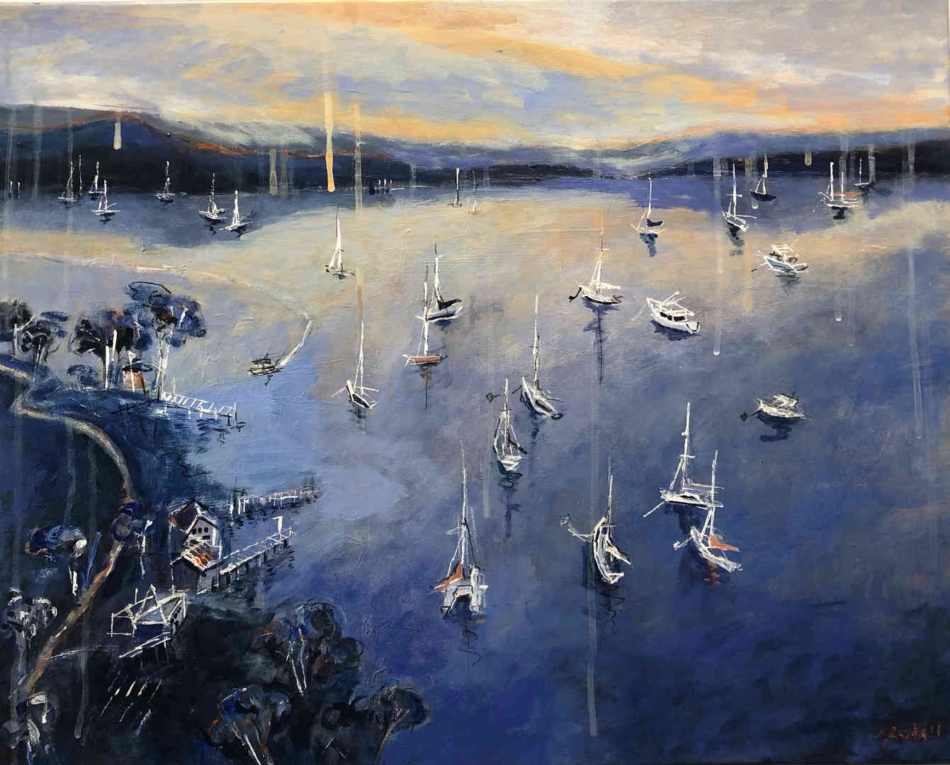 Huon Reflections I (60 x 50cm)